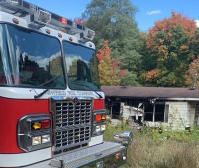 A house fire Sept. 30 on Van Kirk Road in Newfield resulted in no injuries as the structure was unoccupied at the time.