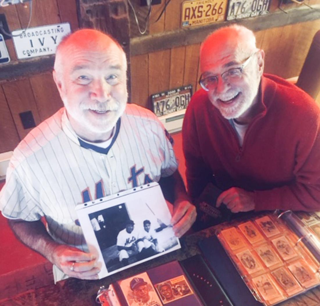 David Moriah and Buck Briggs, with the items over which they've built a lasting bond. (photo provided)