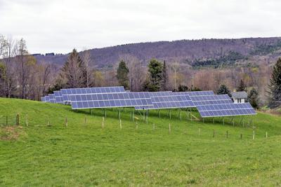 Greenstar solar panels in West Danby. In Seneca County, a solar company is looking to develop an 80-megawatt solar project in Waterloo.
