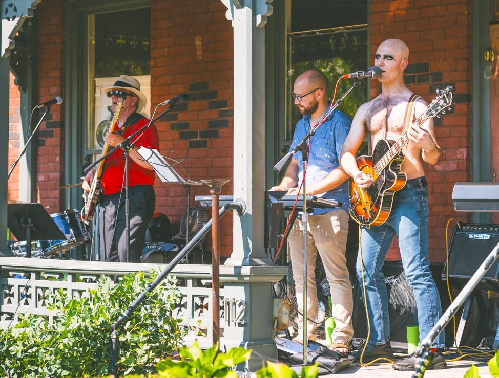 Kurt Riley performing at 2017's Porchfest on Marshall Street. The festival takes places all daySunday, Sept. 22. (Photo by Casey Martin)