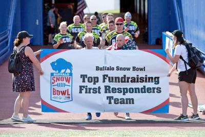 Corrections officers from the Seneca County Jail were the top fundraising team at a recent flag football tournament at the home of the Buffalo Bills.