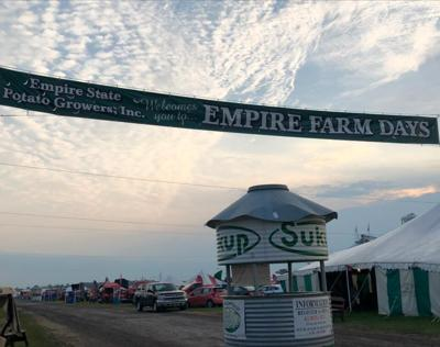 A banner welcomes attendees to Empire Farm Days in 2018. It was recently announced that the event will be moving from its longtime venue in Seneca Falls to a new location in Onodaga County.