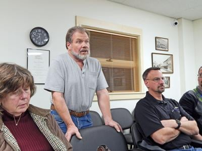 Paul Bursic, a member of the public who resides in Hector next to CARS, speaks at a Ulysses Town Board of Zoning Appeals meeting Oct. 30 in favor of the addiction recovery center's proposed expansion in Ulysses.