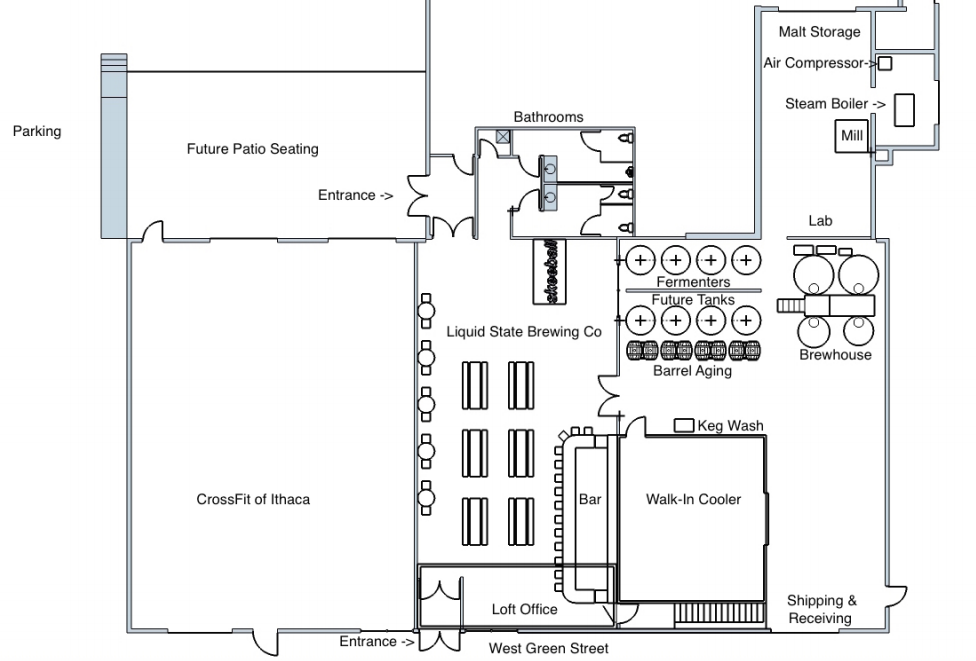 Brewery coming to ithaca 39 s west end news for Brewery floor plan