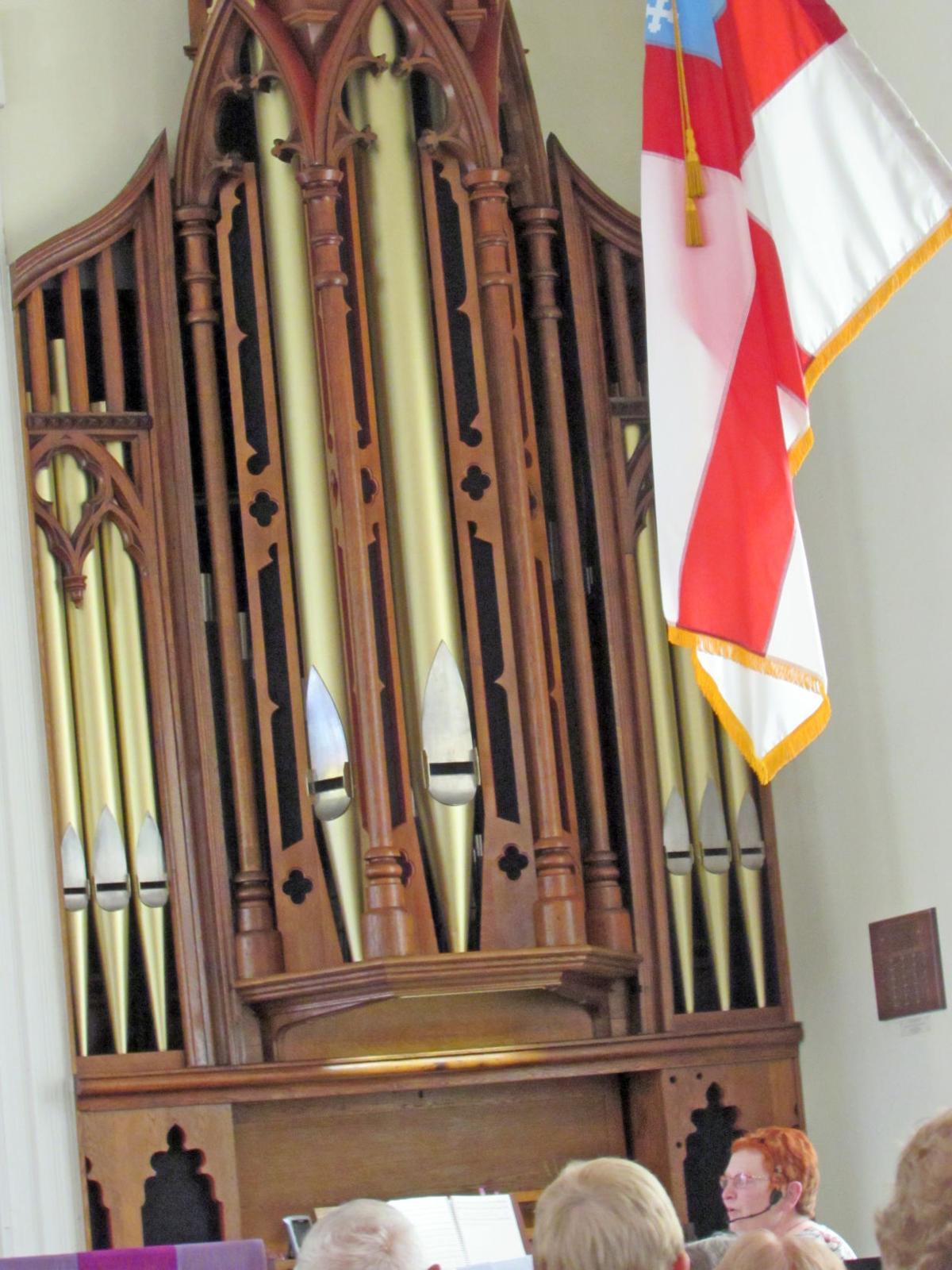 The John G. Marklove historic organ in St. Mark's Church in Candor.