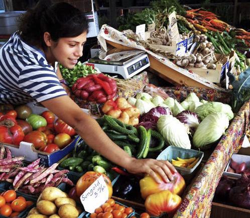 Kayla Dansereau at the farmers' market