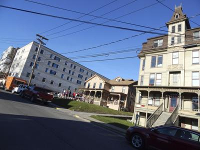 Three kinds of student housing: Apartment Block, 215 College Avenue and the Grandview