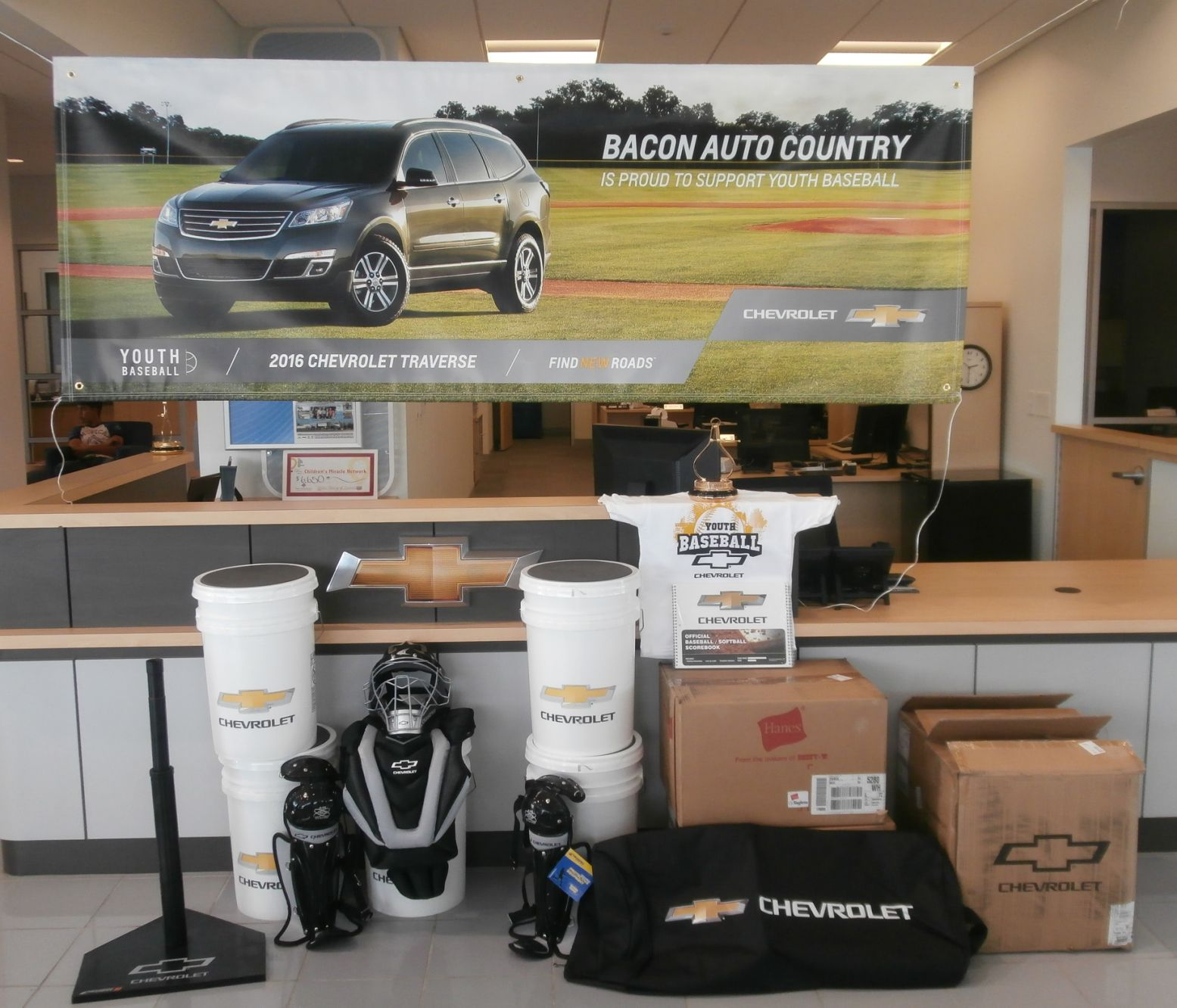 Bacon Auto Country Teamed Up With Chevrolet Youth Baseball To Provide New  Equipment For The Jacksonville Baseball/Softball Associationu0027s Upcoming  Season.