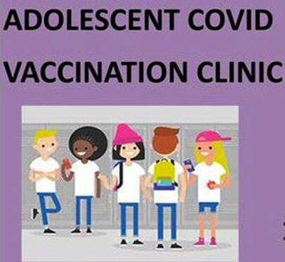 COVID vaccination clinic for adolescents coming Aug. 5