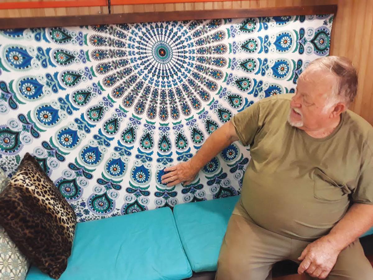 Jacksonville man inspired by artwork to create gypsy caravan