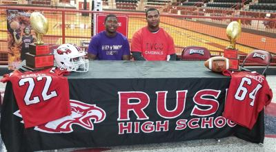 Rusk Football: Johnson, Lewis sign national letters