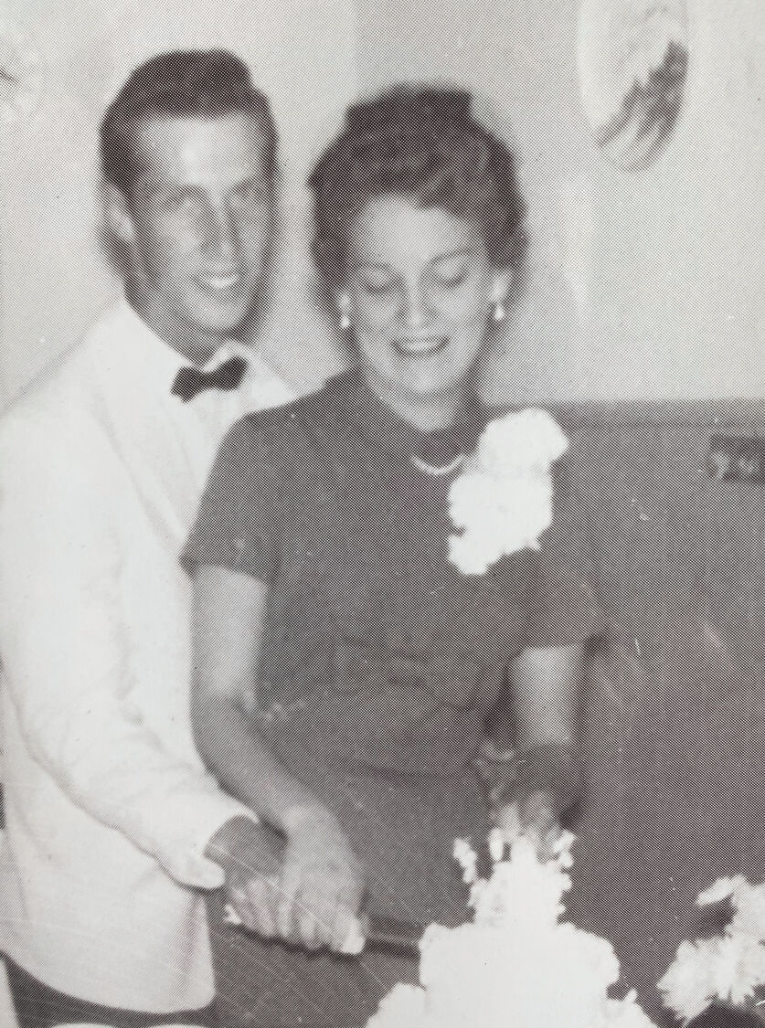 Wedding day: Pat and W. R. Baggett