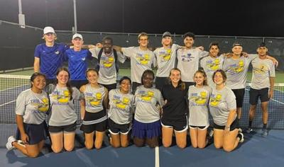 TRIBE TENNIS: Playoff spot secured after win over Nacogdoches