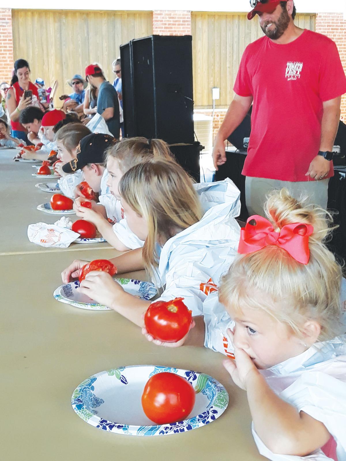 Tomato-eating challenge for kids