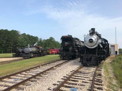 The restored Santa Fe #1316 at Texas State Railroad
