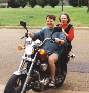 Hopson on bike