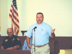 Town leaders meet with the citizens of District No. 1