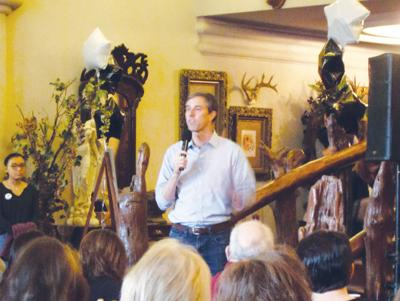 Senate hopeful O'Rourke visits: Crowd attends town hall meeting  at Castle on the Lake