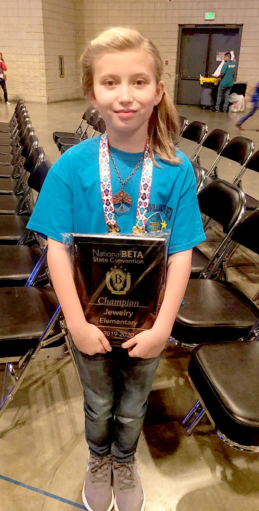 Woodville students compete at Junior Beta Convention