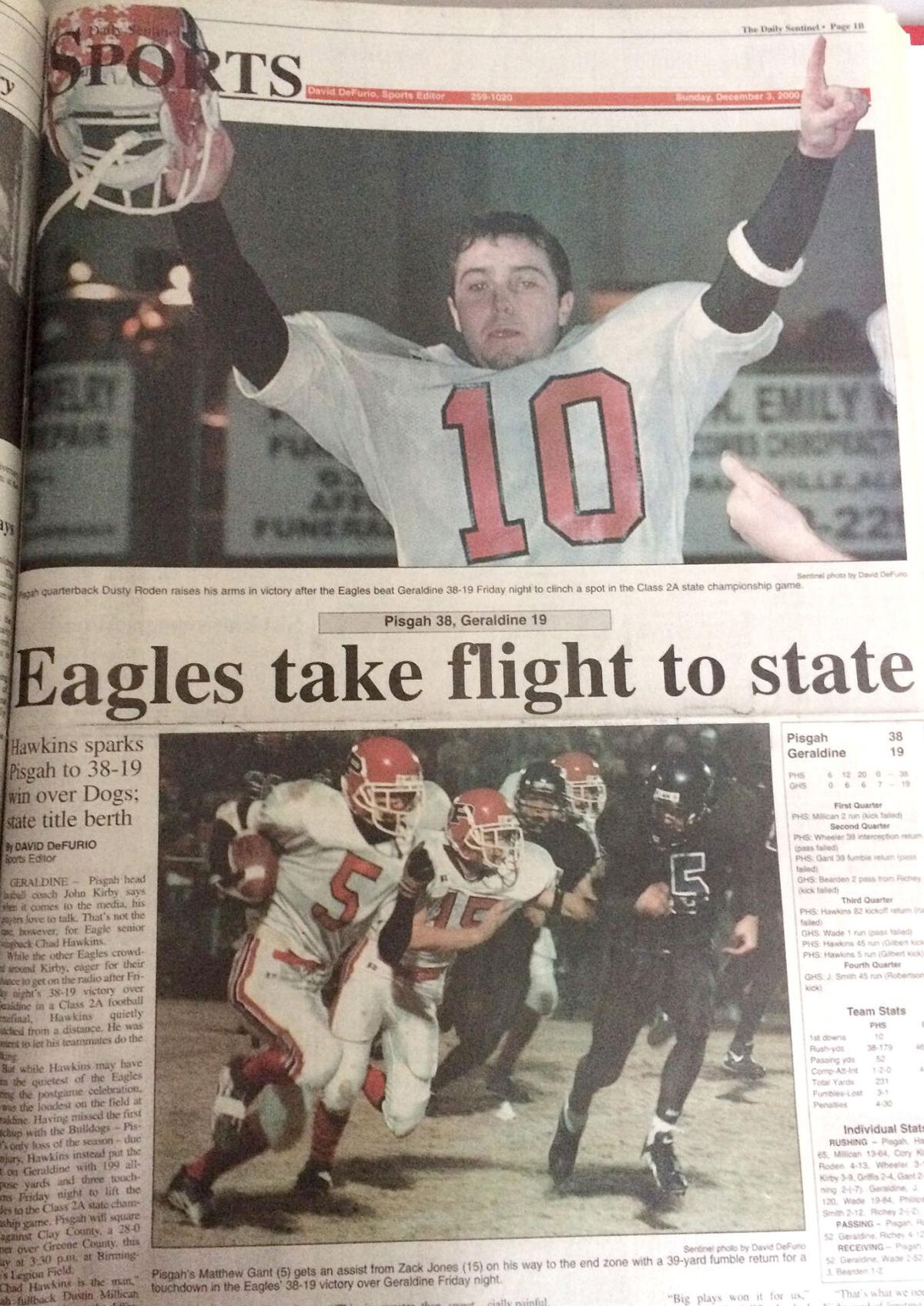 Pisgah state runner-up sports page