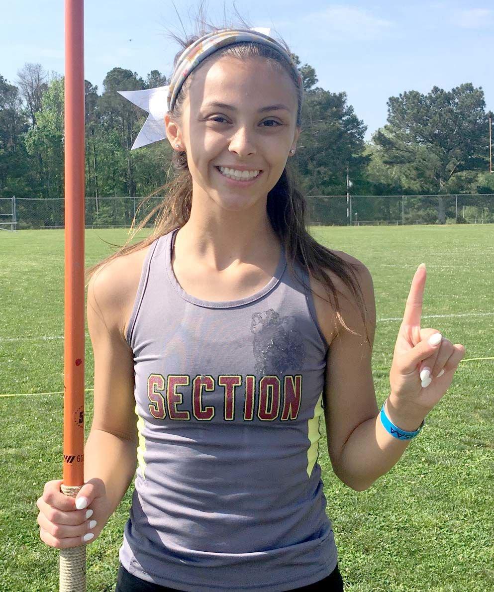 Class 2A Girls Javelin State Champion