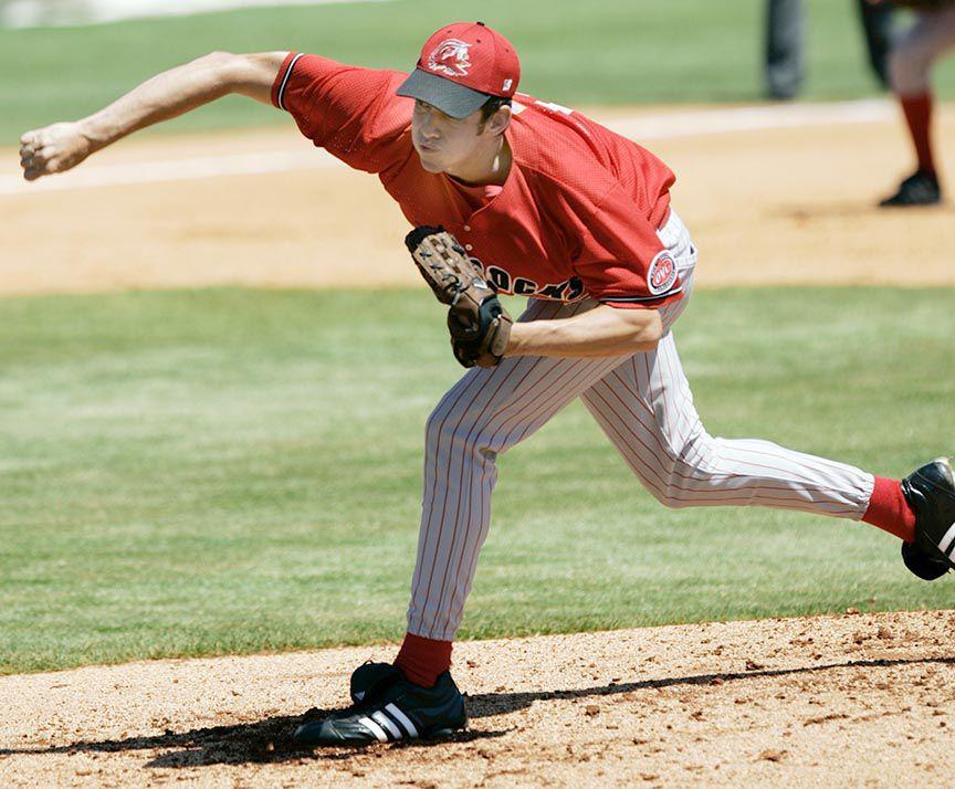 Darwin pitching at JSU