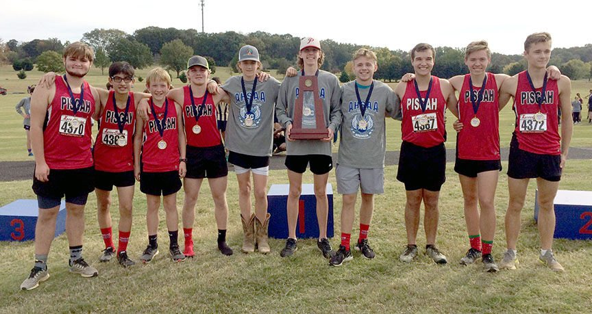 Pisgah boys cross country sectional champs