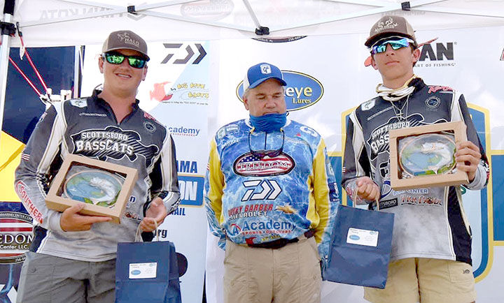 Third-place anglers