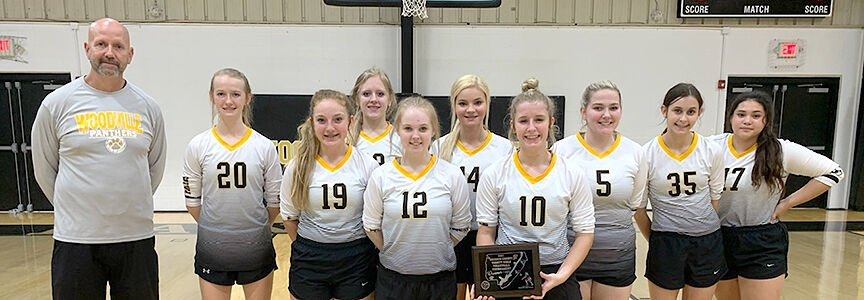 Woodville county volleyball runner-up