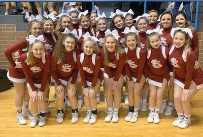 Section cheerleaders