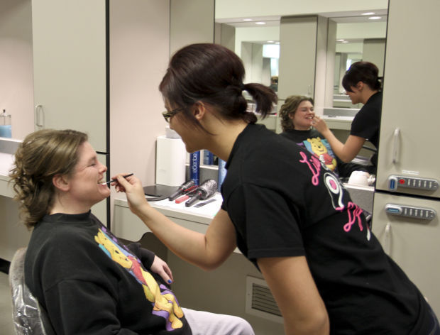 Cosmetology students help out