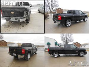 Chevy Silverado, Before & After Paap Auto Body