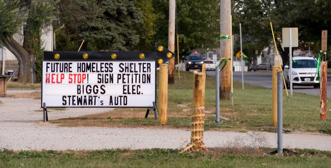 Homeless Shelter Sign 10/13/15