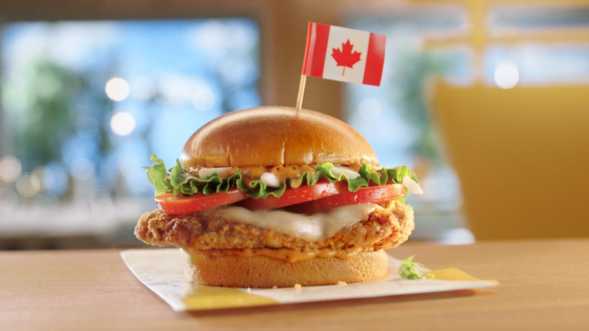 McDonald's Tomato Mozzarella Chicken Sandwich (Canada)