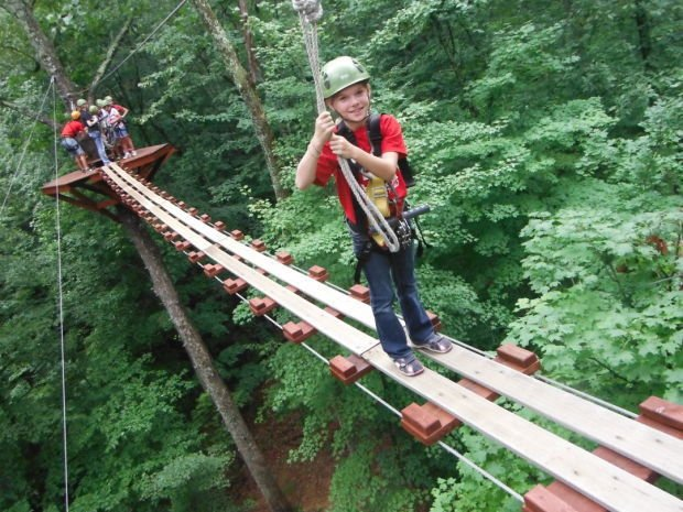 Brown County, Ind. offers zip lining