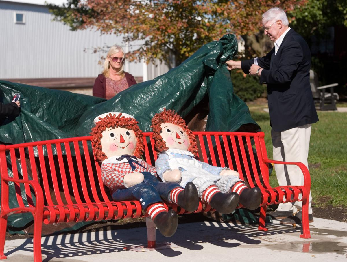 raggedy ann andy immortalized in statue in arcola jg tc com