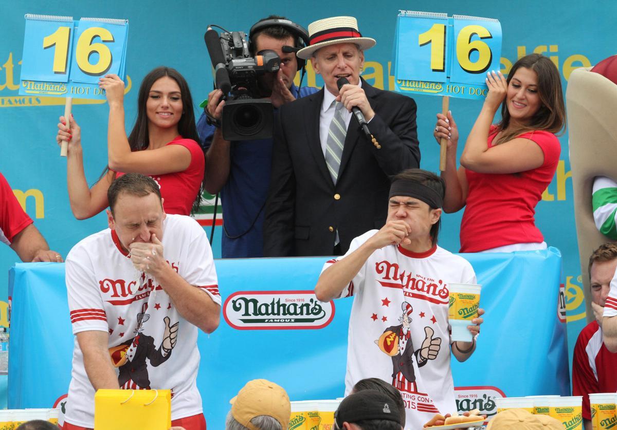 APTOPIX Hot Dog Contest