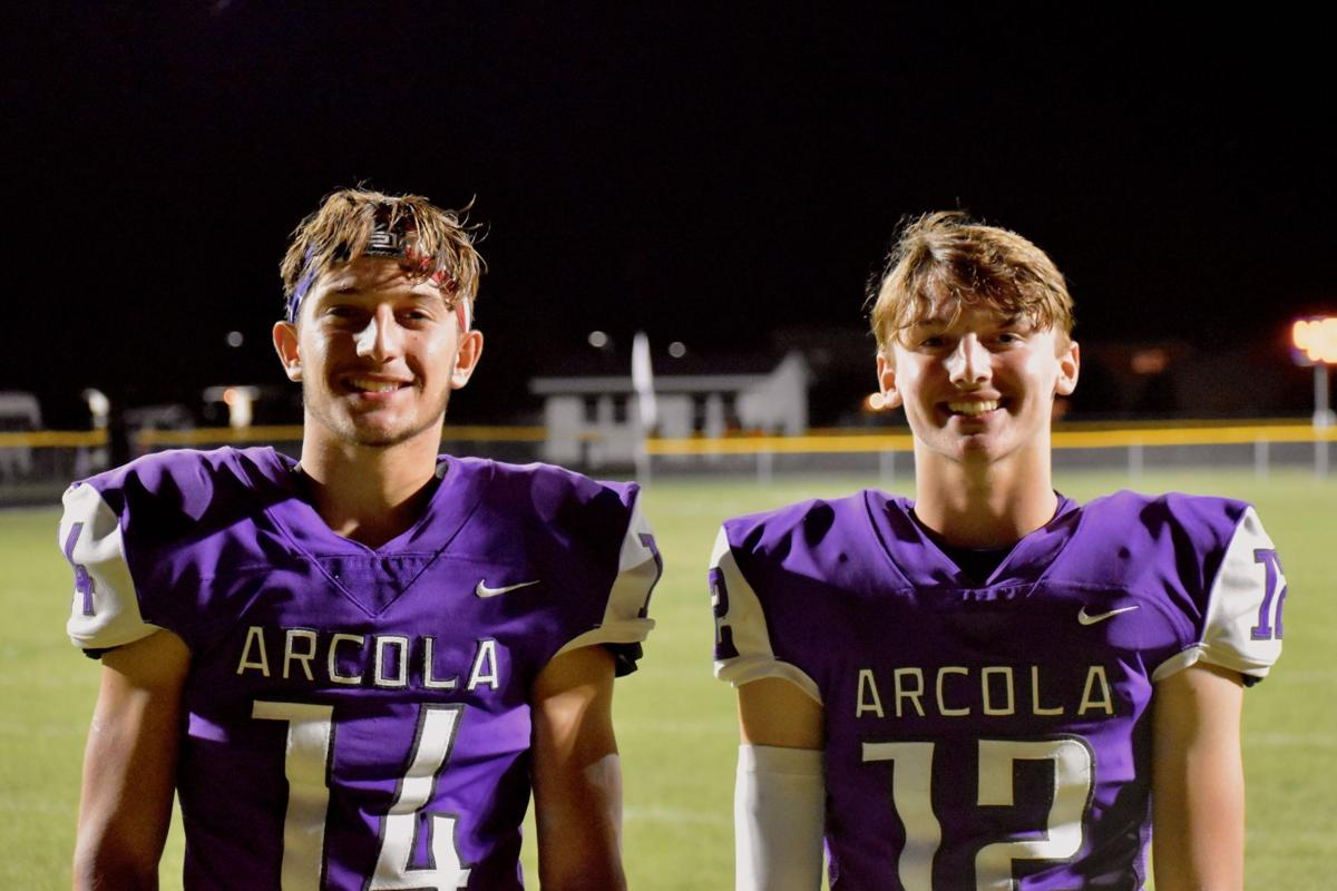 Arcola's Beau Edwards and Tanner Thomas