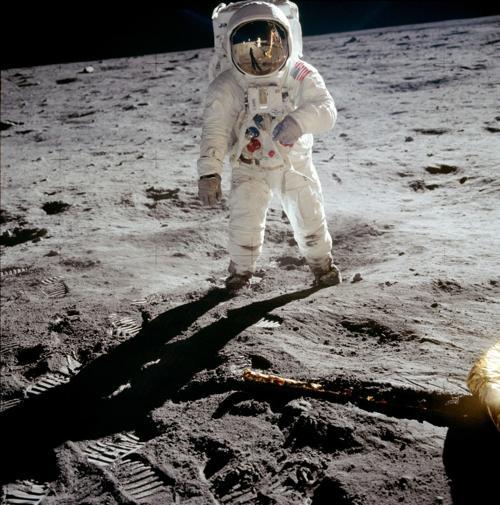 Apollo 11 poster exhibit at Mattoon mall