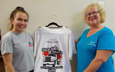 Mattoon teen designs Coles County Make-A-Wish convoy T-shirt