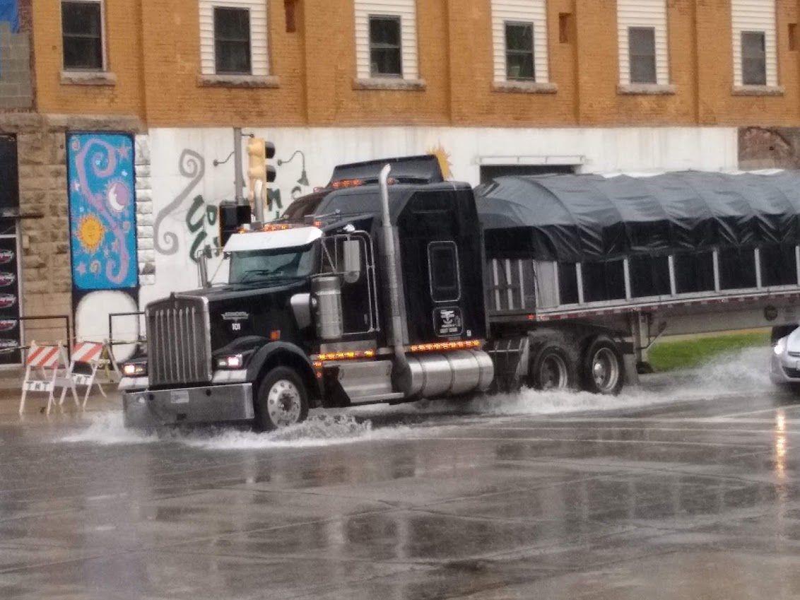 Standing water on Charleston Avenue