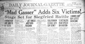 'Mad Gasser' headline