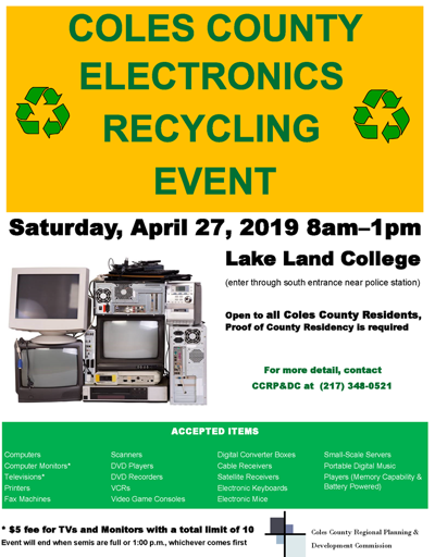 Coles County electronics recycling event