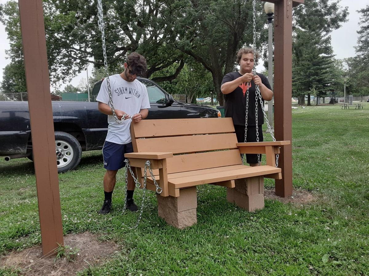 Lytle Park summer workers