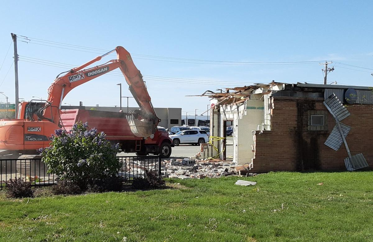 Demolition, back view
