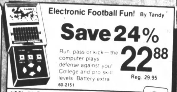 Tandy Electronic Football