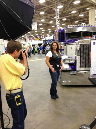 Clayton takes part in contest, photo shoot at trucking show