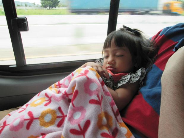 Ellie Kull asleep