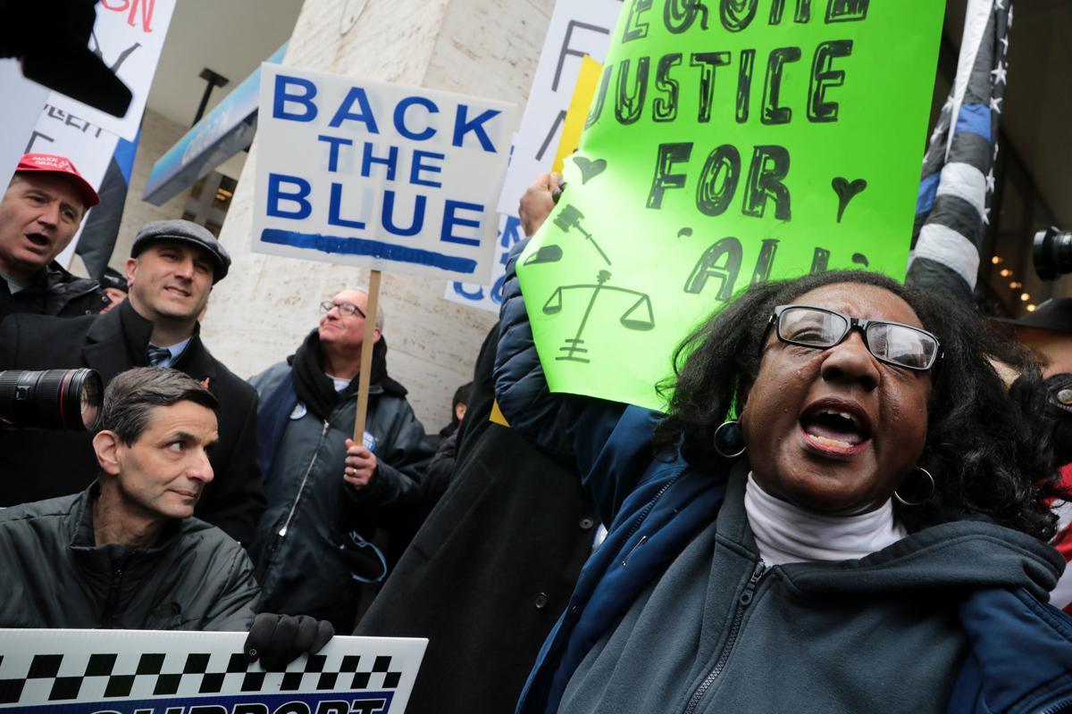 Smollett protests