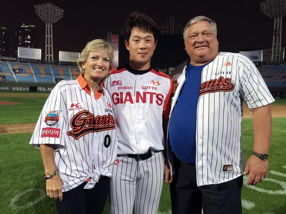 Coule visit South Korea to see friend there play professional baseball